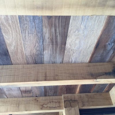 Barnwood oak ceiling