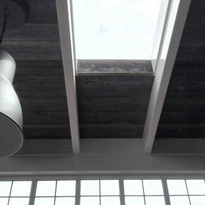 Oude houten dakbeschot