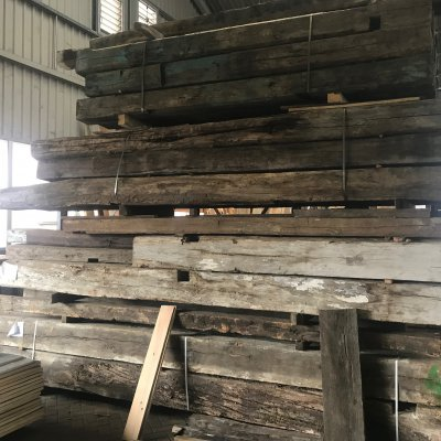 Big stock european oak beams
