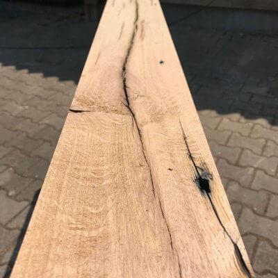 Geschaafd oud eiken balken