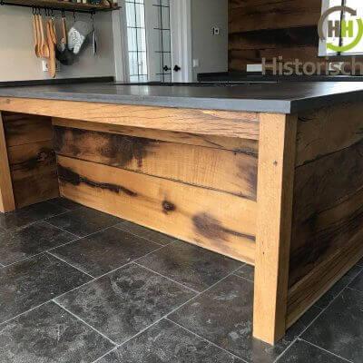 Keuken verwerkt uit oud eiken