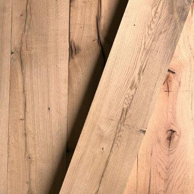 Planed old oak