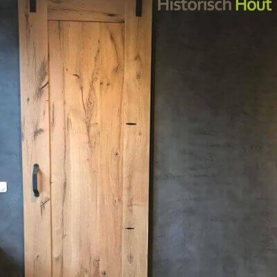 Loftdeur oud eiken planken