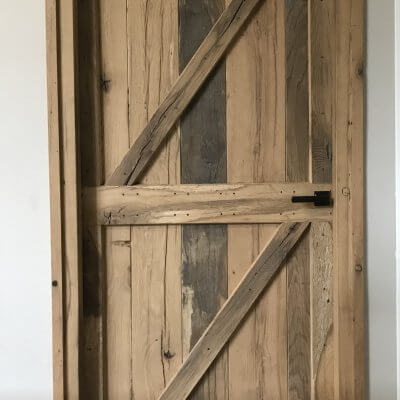 Loftdeur oud hout