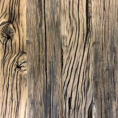 geborstelde eiken planken