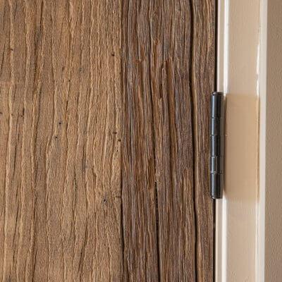 Oud eiken deur