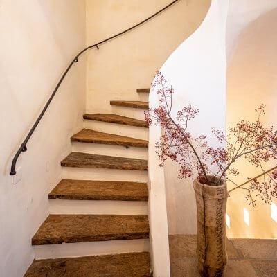 Reclaimed oak stairs
