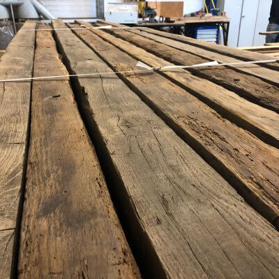 Reclaimed european oak