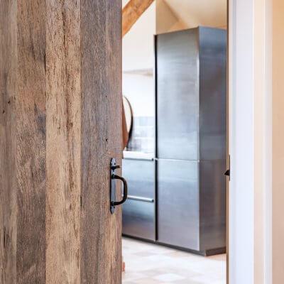 reclaimed oak veneer door