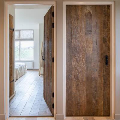 Old oak doors