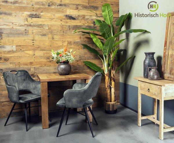 Industriële look met barnwood wandbekleding
