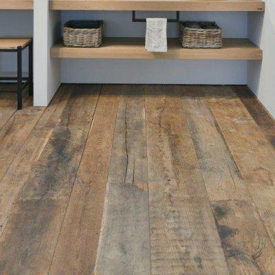 Massive old oak floorboards