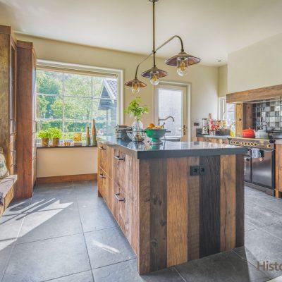 keuken eiland oud hout