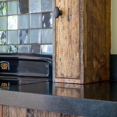 oude houten keuken