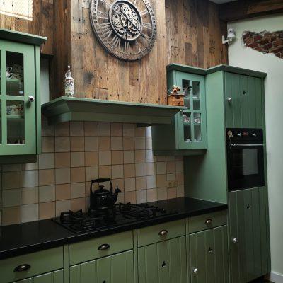 keuken houten bekleding