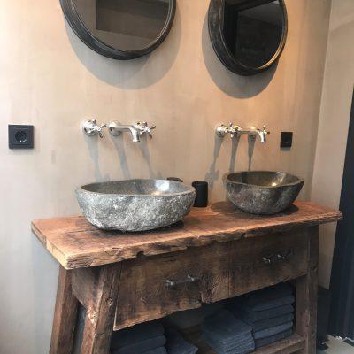 badkamer meubel oud hout